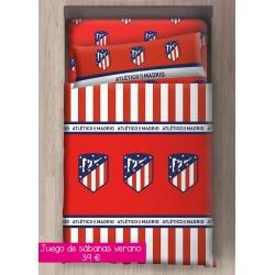 Juego de sábanas Atlético...