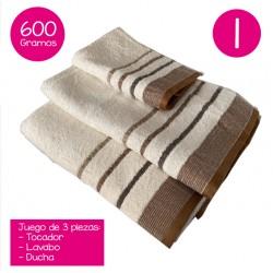 Juego de toallas 600 gramos...