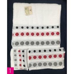 Juego de toallas (3 piezas)