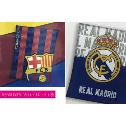 Manta coralina Real Madrid...
